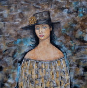 Folk Art Paintings - Katherine by Rain Ririn