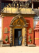 Old Door Prints - Kathmandu Temple Print by Dorota Nowak