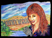 Autographed Mixed Media Posters - KathyWood Poster by Joseph Lawrence Vasile