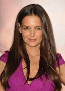 Hair Parted In The Middle Framed Prints - Katie Holmes At Arrivals For Jack & Framed Print by Everett