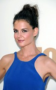 Hair Bun Framed Prints - Katie Holmes At Arrivals For The 63rd Framed Print by Everett
