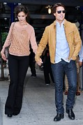 Celebrity Candids - Monday Posters - Katie Holmes, Tom Cruise, Leave Poster by Everett