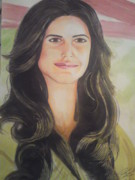 Spiderman Drawings - Katrina Kaif 2010 by Sandeep Kumar Sahota
