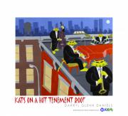 Drum Art - Kats On A Hot Tenement Roof by Darryl Glenn Daniels