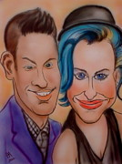 Celebrities Drawings Originals - Katy and Gabbi by Pete Maier