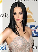 Katy Perry Metal Prints - Katy Perry In Attendance For Clive Metal Print by Everett