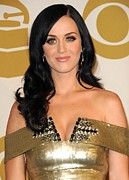Jeweled Dress Framed Prints - Katy Perry In Attendance For The Grammy Framed Print by Everett