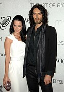 Katy Perry Metal Prints - Katy Perry, Russell Brand At Arrivals Metal Print by Everett
