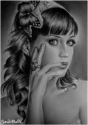 Katy Perry Drawings - Katy Perry by Sandritta Art