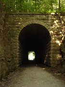 Tunnels Framed Prints - Katy Trail State Park Tunnel Framed Print by Elizabeth Sullivan