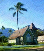 Rg Mcmahon Framed Prints - Kauai Church  Framed Print by RG McMahon