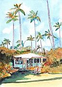 Plantation Paintings - Kauai Cottage by Marionette Taboniar