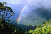 Kalalau Rainbow Framed Prints - Kauai Rainbow Framed Print by Brent Black - Printscapes