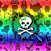 Girly Skull Posters - Kawaii Rainbow Skull Poster by Roseanne Jones