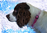 Puppy Digital Art Metal Prints - Kaya paint filter Metal Print by Steve Harrington