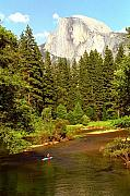 Kayak Originals - Kayak Below Half Dome by Alan Lenk
