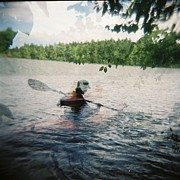 Holga Images Framed Prints - Kayak Dreams Framed Print by Lynn-Marie Gildersleeve