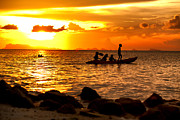 Storm Clouds; Sunset; Twilight; Water Originals - Kayak relax by Anek Suwannaphoom