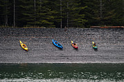 Jason Smith Prints - Kayak Shore Print by Jason Smith