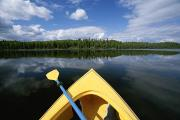 Nancy Prints - Kayakers View From Boat At Nancy Lake Print by Michael Melford