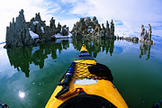 Tufa Posters - Kayaking Mono Lake, Castle Tufa Poster by Buck Forester
