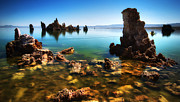 Mono Lake Prints - Kayaking Mono Print by Sean Foster