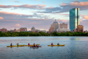 Charles River Photo Prints - Kayaking on the Charles Print by Susan Cole Kelly