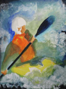 Extreme Sport Paintings - Kayaking by Sandy McIntire