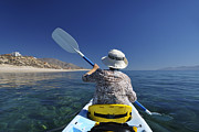 Golf Of Mexico Prints - Kayaking the Sea of Cortez Print by Christian Heeb