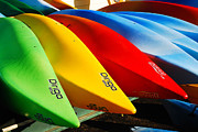 James Kirkikis Prints - Kayaks Await Print by James Kirkikis