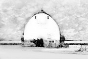 Barn Yard Digital Art Prints - Kays Barn Print by Julie Hamilton