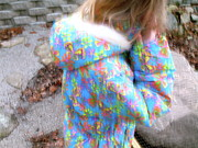 Colorful Acrylic Prints - Kays Colorful Coat by Lynn-Marie Gildersleeve