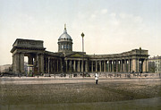 Russian Orthodox Framed Prints - Kazan Cathedral in St. Petersburg - Russia Framed Print by International  Images
