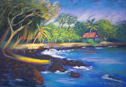Bay Pastels Prints - Kealakekua Bay Print by Karin  Leonard
