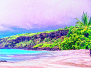 Kamuela Paintings - Kealakekua Morning by Dominic Piperata