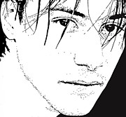 Edge Drawings Prints - Keanu Reeves 2 Print by Lori Jackson