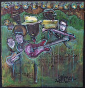 Band Painting Originals - Keb Mo Live by Laurie Maves
