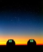 Hawai Prints - Keck I And Ii Telescopes On Mauna Kea, Hawaii Print by David Nunuk