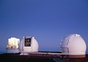 Hawai Posters - Keck Telescope Domes Poster by G. Brad Lewis