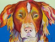 Animal Portraits Prints - Keef Print by Pat Saunders-White
