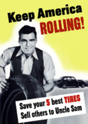 United States Propaganda Art - Keep America Rolling by War Is Hell Store