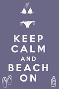 Carry On Art Framed Prints - Keep Calm and Beach On Framed Print by Nomad Art And  Design