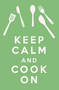 Carry On Art Framed Prints - Keep Calm and Cook On Framed Print by Nomad Art And  Design