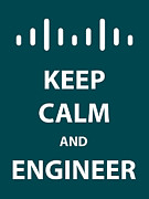 Cisco Framed Prints - Keep Calm and Engineer Framed Print by Tony Cooper