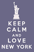 Carry On Art Framed Prints - Keep Calm and Love New York Framed Print by Nomad Art And  Design