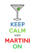 Andi Bird Digital Art Framed Prints - Keep Calm and Martini On Framed Print by Andi Bird