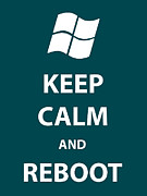 Linux Framed Prints - Keep Calm and Reboot Framed Print by Tony Cooper