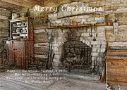 Log Home Posters - Keep Christmas Merry Poster by Michael Peychich