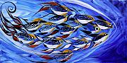 Tropical Fish Paintings - Keep it Together by J Vincent Scarpace