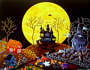 Haunted House Painting Framed Prints - Keep Running Framed Print by Christine Altmann